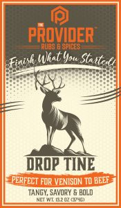 Drop Tine Meat Rub Label